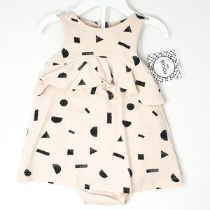 Focus Kids Shape Print Dress and Diaper Cover